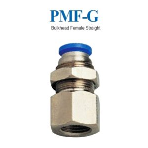 "BULKHEAD FEMALE STRAIGHT 1/4"" 8MM"